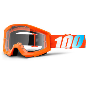 100% Strata Anti Fog Clear Goggles Youths orange